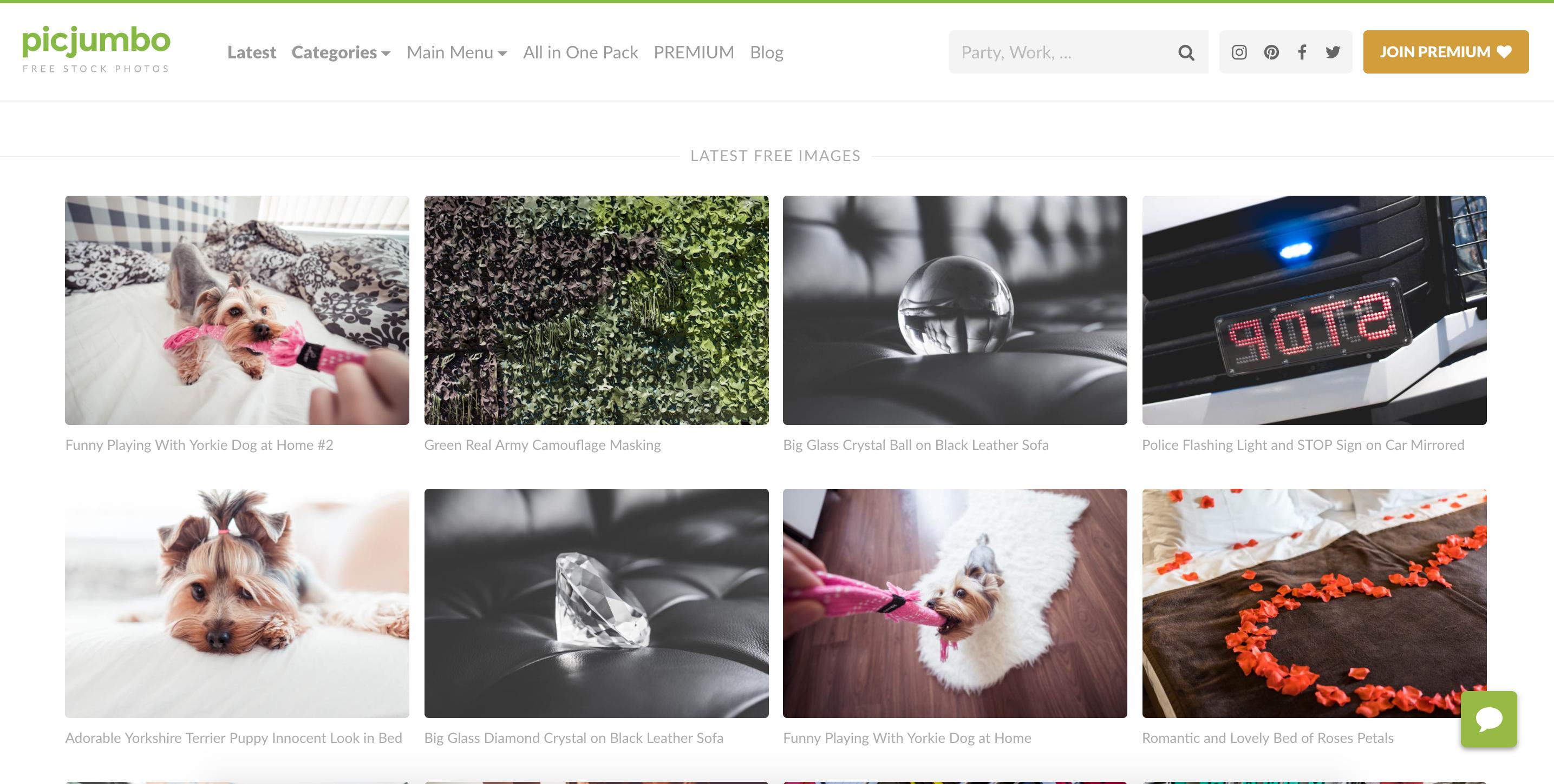 Picjumbo - lizenzfreie und kostenlose Bilder Plattform