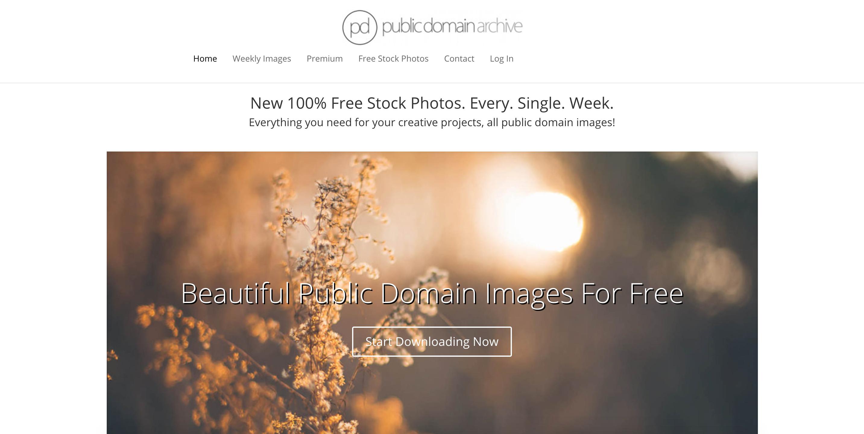 Pubilc Domain Archive Bilderdatenbank